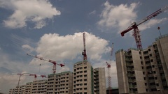Singapore. Public Housing (HDB) Construction. Stock Footage
