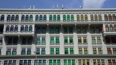 Singapore. Old Hill Stree Police Station - Pan out from Hill Street Stock Footage