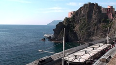 Manarola center of a small town in Liguria, Italy Stock Footage
