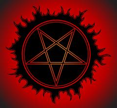 Black Pentagram icon. Piirros