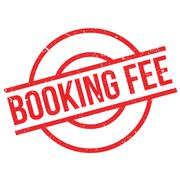 Booking Fee rubber stamp Stock Illustration
