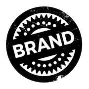 Brand rubber stamp Stock Illustration