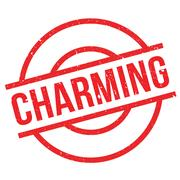 Charming rubber stamp Stock Illustration