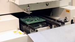 Surface Mount Technology Machine making on circuit boards Stock Footage