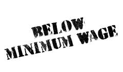 Below Minimum Wage rubber stamp Stock Illustration
