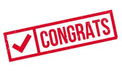 Congrats rubber stamp Stock Illustration