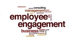 Employee management animated word cloud, text design animation. Stock Footage