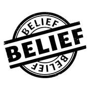 Belief rubber stamp Stock Illustration