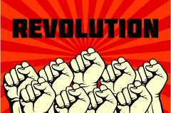 Protest, rebel vector revolution art poster Stock Illustration