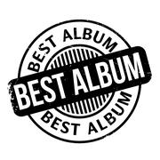Best Album rubber stamp Stock Illustration