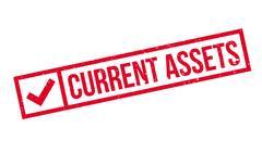 Current Assets rubber stamp Stock Illustration