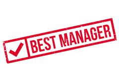 Best Manager rubber stamp Stock Illustration