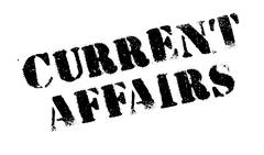 Current Affairs rubber stamp Stock Illustration