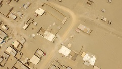 Aerial of land occuption in Peru, South America Stock Footage