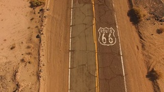 Route 66 Historic Two Lane Highway Southwest United States Stock Footage