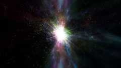 A Supernova bursts light - Space Travel 2214 Stock Footage Stock Footage