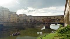 Ponte Vecchio (Old Bridge) in Florence, Italy. Stock Footage