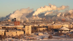 Poor environment. Environmental disaster. Harmful emissions into the environment Stock Footage