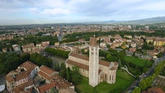 Basilica of San Zeno, Verona, Italy Stock Footage