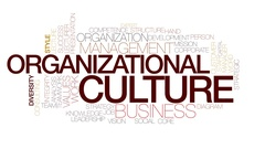 Organizational culture animated word cloud, text animation. Kinetic typography. Stock Footage
