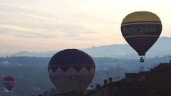 View of Hot air balloons Stock Footage