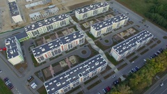 View of the modern district. Aerial shooting Stock Footage