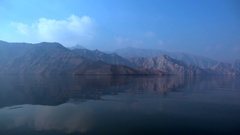 Fjords of Khasab, Oman Stock Footage