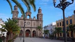 Santa Ana Cathedral of Las Palmas de Gran Canaria Stock Footage