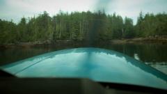 Time-lapse Plane POV point of view propeller Plane flight Stock Footage