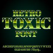Toxic Green Font Stock Illustration