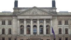 Berlin, Germany - January 18, 2017: German Bundesrat exterior Stock Footage