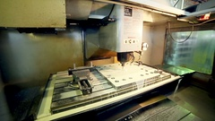 Metal Processing On CNC machine Stock Footage