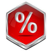 Discount button - 3D illustration Stock Illustration