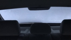 Rear car window defrost timelapse video Stock Footage