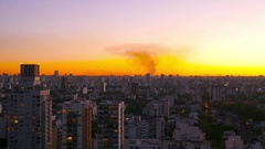 Sunset over Buenos Aires Stock Footage