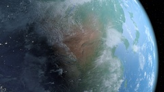 4K Earth scene from space day turns to night Stock Footage