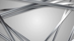 Abstract grey tech silver stripes video animation Stock Footage