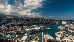 Time lapse of Kyrenia harbour. Kyrenia (Girne), Cyprus. Stock Footage
