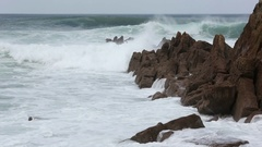 Atlantic Ocean Storm. Stock Footage