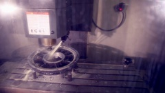 CNC machine automatic drilling Stock Footage