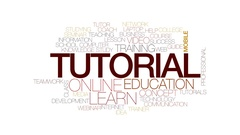 Tutorial animated word cloud, text design animation. Kinetic typography. Stock Footage