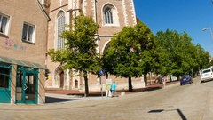 The center of Ingolstadt Stock Footage