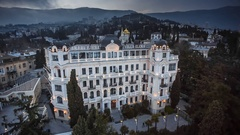 Villa Elena Is A Famous And Luxury Hotel Stock Footage