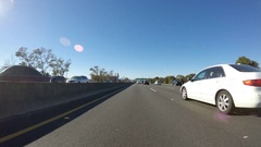 Oakland Interstate 80 Car Mount Time Lapse Stock Footage