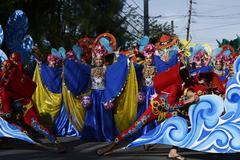Group of street dancers celebrating festivity Stock Photos