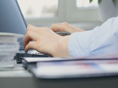 Accountant Working in an Office Stock Footage