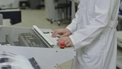 SMT Machine Operator Stock Footage