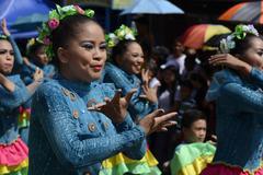 Female face Street dancer celebrating festivity Stock Photos