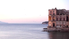 View of Naples bay Stock Footage