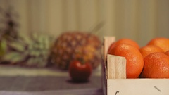 Clementine Oranges in a Box Stock Footage